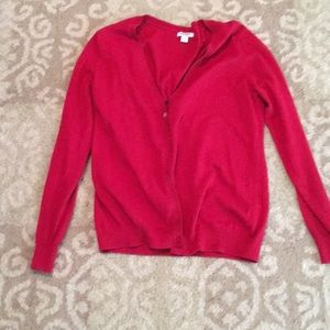 Red old navy cardigan